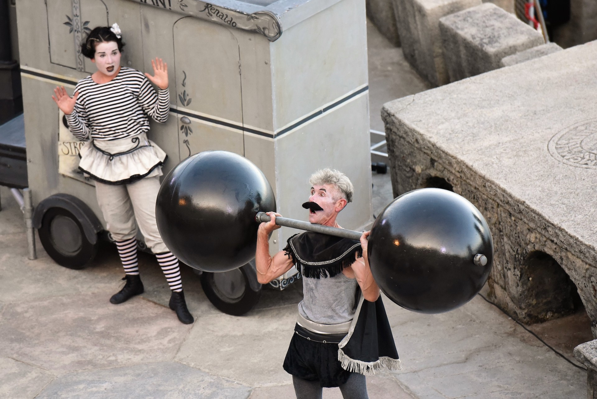 THE STRONGMAN – a Covid-safe, all-family, socially distanced, real-life silent movie show from Bash Street Theatre